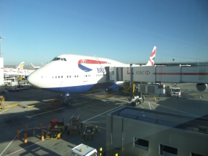 My First BA 747 flight